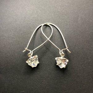 Wire Heart Drop Earrings. Earrings